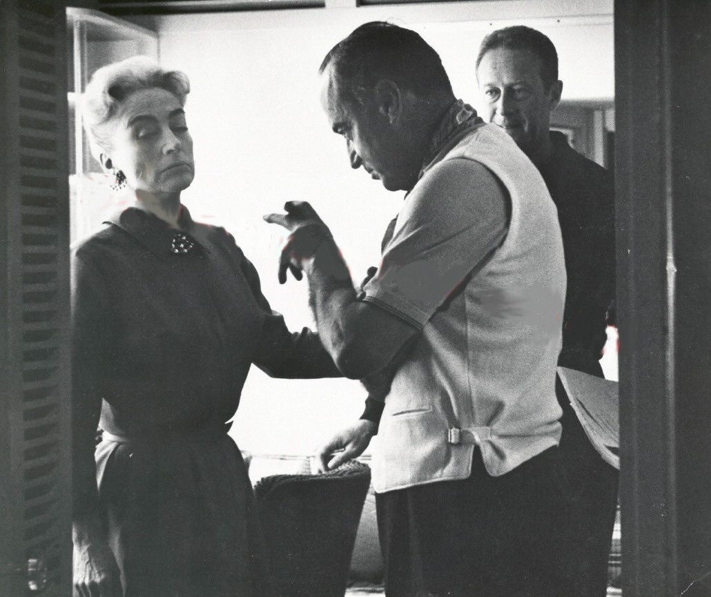 1959. On the set of 'The Best of Everything' with director Jean Negulesco.