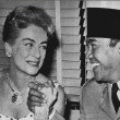 June 1959. Lunch with Indonesian president Sukarno on the 20th Century-Fox lot. (Thanks to Bryan Johnson.)