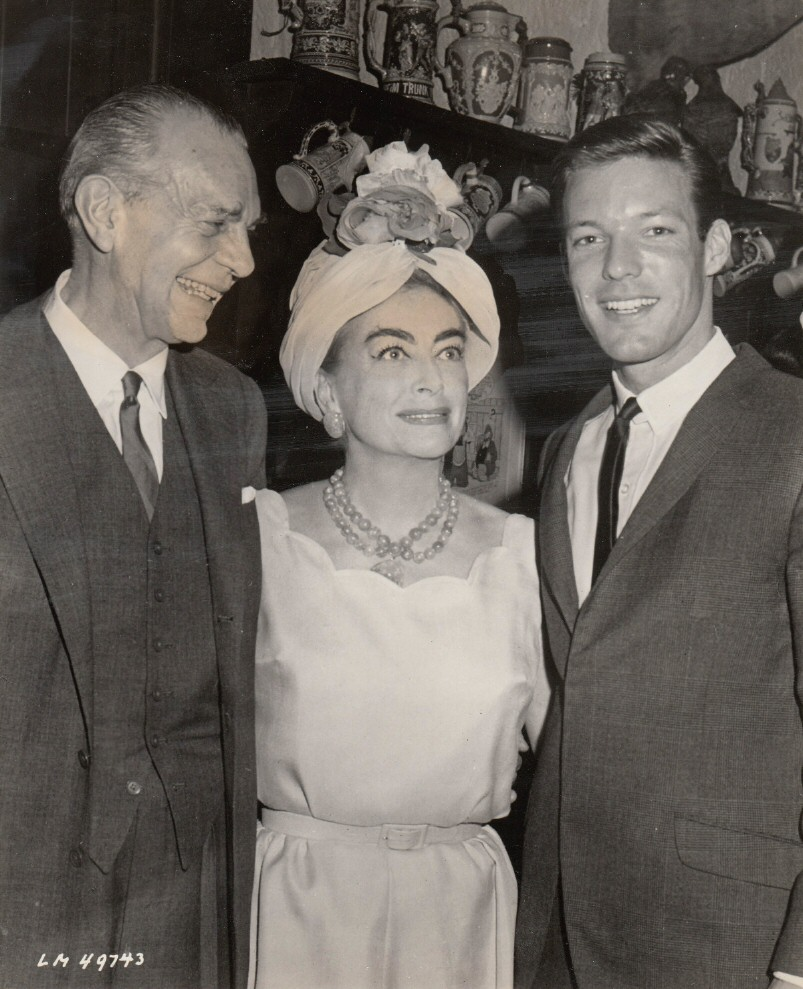 Circa 1961. With Richard Chamberlain and Raymond Massey from 'Dr. Kildare.'