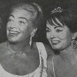 Circa 1961, at unknown event with Ann Blyth.