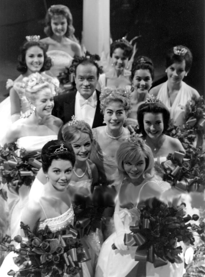September 1961. With Bob Hope and Miss America contestants.