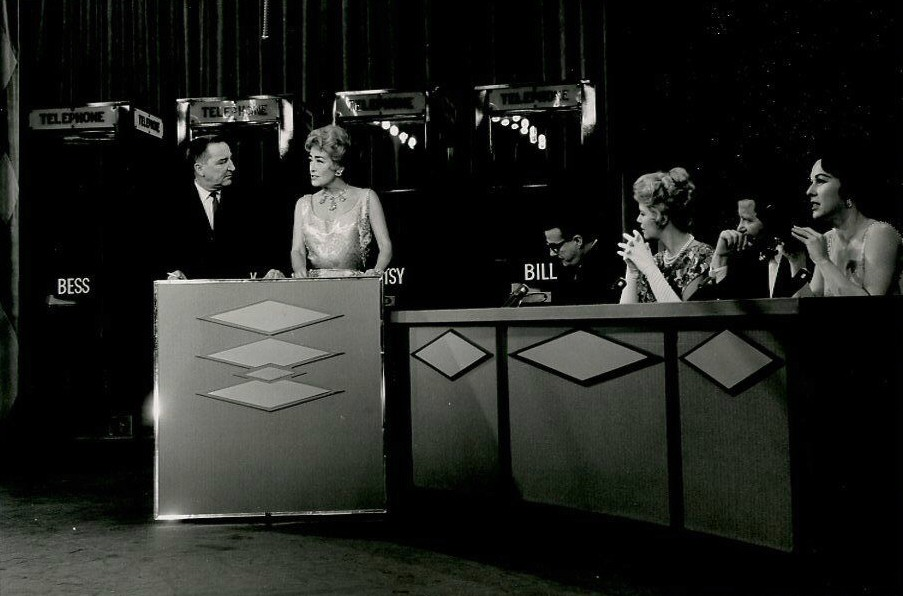10/23/61. On 'I've Got a Secret' with host Garry Moore and panelists Bill Cullen, Henry Morgan, Bess Myerson, and Betsy Palmer.