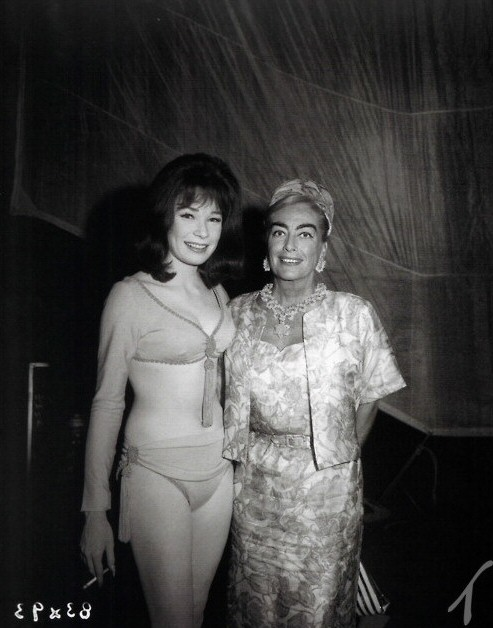 1965 with Shirley MacLaine on the set of 'John Goldfarb, Please Come Home!'