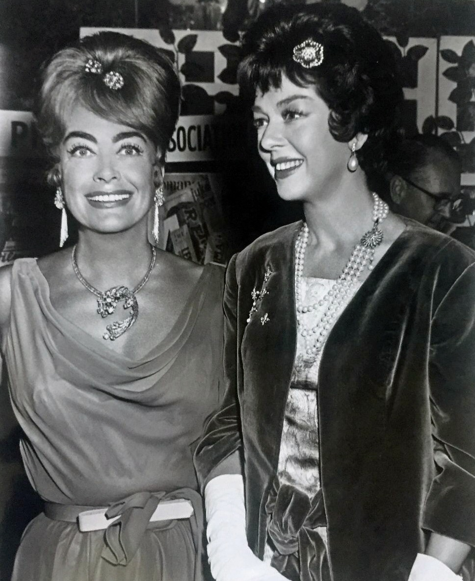 July 1962. At the Golden Globes with Rosalind Russell.