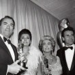 At the 4/8/63 Academy Awards with Gregory Peck, Sophia Loren, and Maximilian Schell.