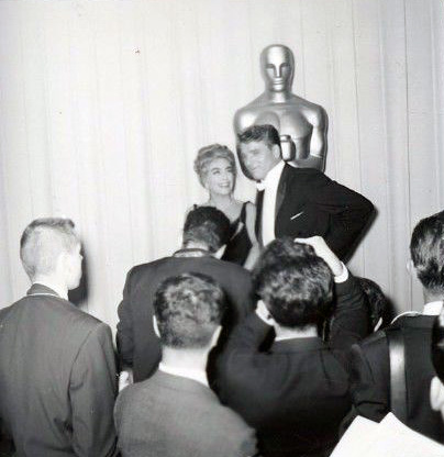 April 9, 1962. With Burt Lancaster and press.