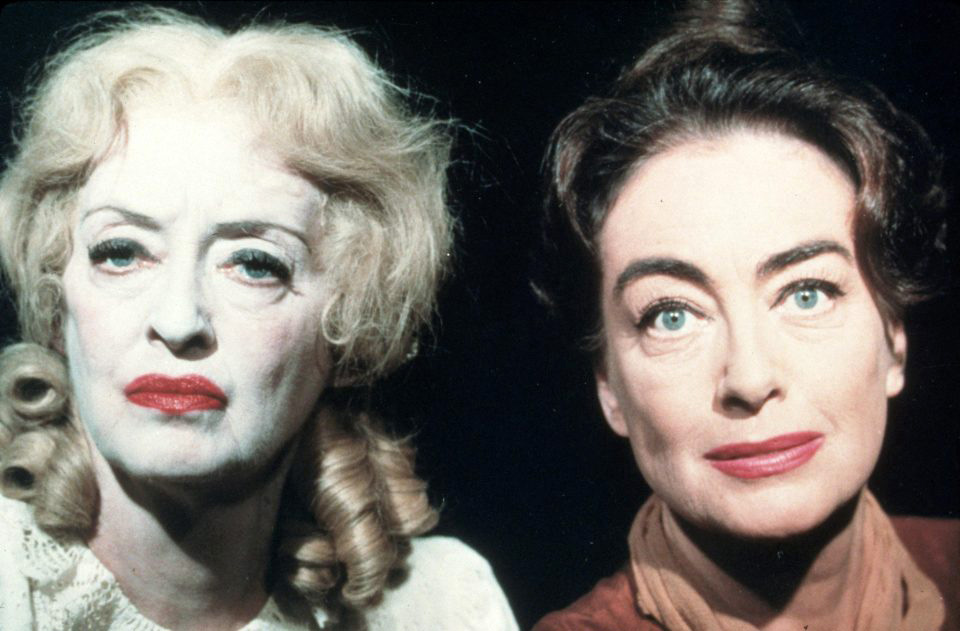 1962. Publicity for 'Baby Jane,' with Bette Davis.