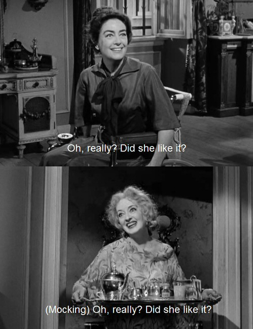 1962. 'What Ever Happened to Baby Jane?' screen shots.