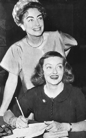 With Bette Davis on the set of 'Baby Jane.'