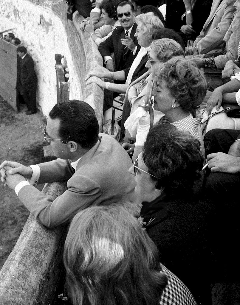 May 1962 at a bullfight in Alcobendas, Spain.