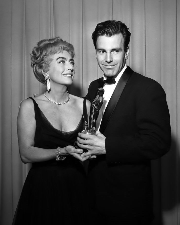 At the 4/9/62 Oscars with Maximilian Schell.