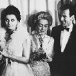 With Gregory Peck, Sophia Loren, and Maximilian Schell. (Thanks to Bryan.)