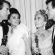 4/8/63 at the Oscars with Gregory Peck, Sophia Loren, and Maximilian Schell.