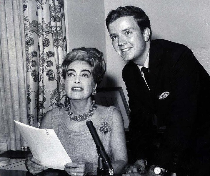 Fall 1964 with Albert Fisher at her 5th Ave. apartment, taping her narration for the '64-'65 NY World's Fair radio series.