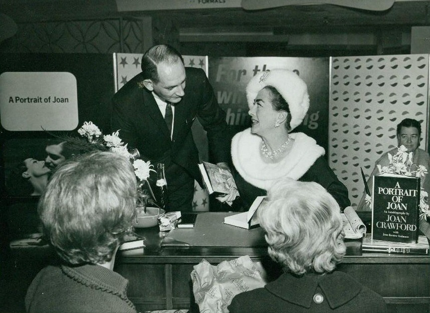 1962. A 'Portrait of Joan' book signing.