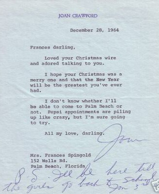 December 28, 1964, to Frances Spingold.