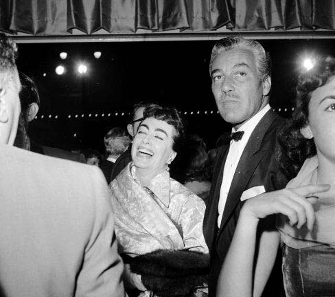1954. The 'Star is Born' premiere, with Cesar Romero.