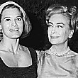 1965, with Angie Dickinson, at a party for 'I Saw What You Did.'