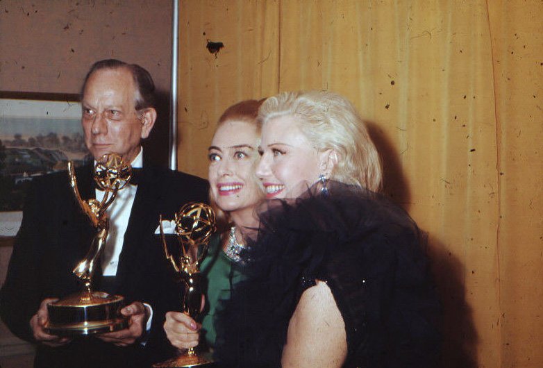 At the 9/13/65 Emmys with Melvyn Douglas and Ginger Rogers.