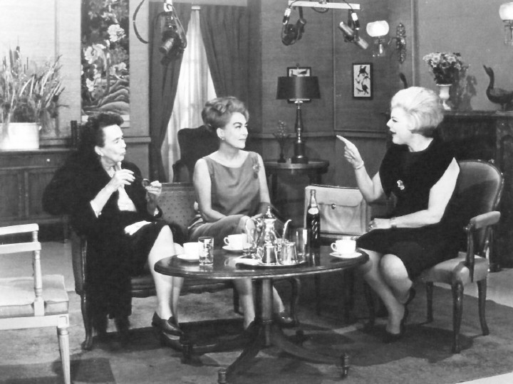 1965. On 'Girl Talk' with Virgilia Peterson and Virginia Graham.