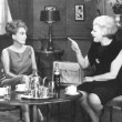 1965. With Virgilia Peterson and Virginia Graham on Graham's show 'Girl Talk.' (Thanks to Bryan Johnson.)