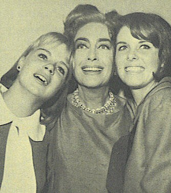 1965. On the set of 'I Saw What You Did' with co-stars Sara Lane and Andi Garrett.
