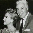 Publicity party for 'I Saw What You Did' with co-stars, director Castle, and friend Cesar Romero.