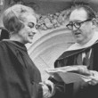 May 1966. Receiving her degree at Vernon Court Jr. College in Rhode Island, with school president Franklyn Ashley.