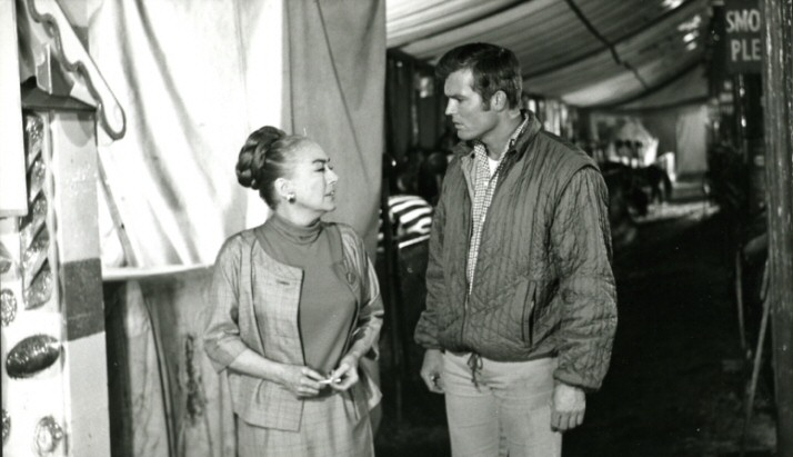 On the set of 'Berserk' with Ty Hardin.