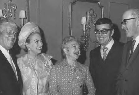 Circa 1968, with Helen Hayes at unknown event.
