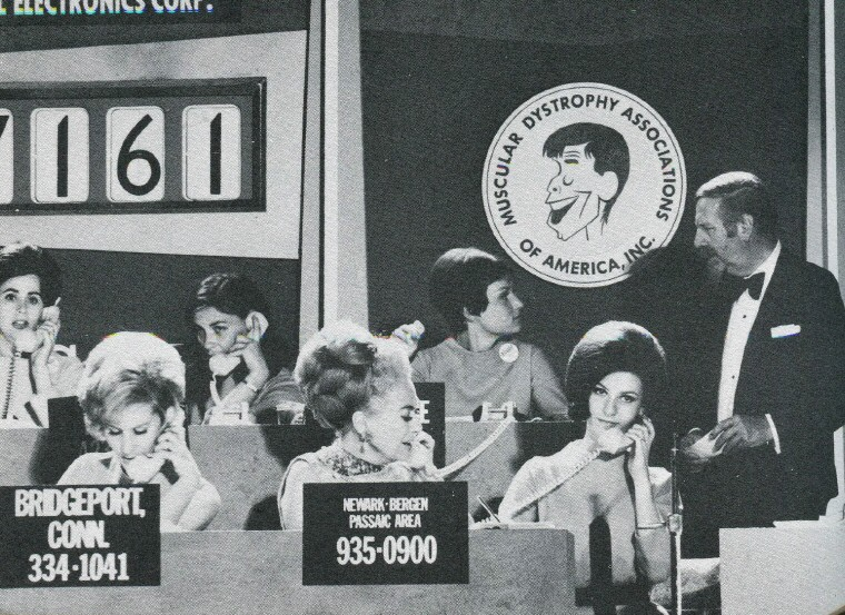September 1968. At the MD telethon with Christina. (Thanks to James for the photo.)
