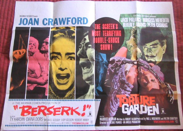 UK quad double-feature poster.