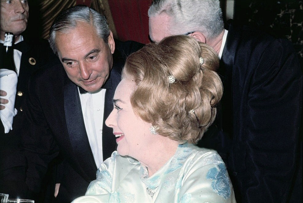 March 1968. At a Variety Clubs dinner honoring Lord Mountbatten.