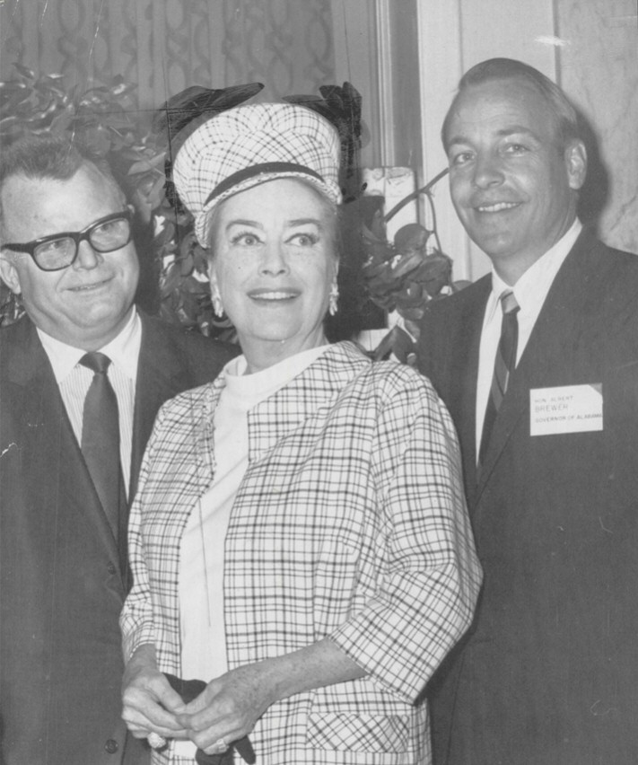 May 1969. At NYC's Waldorf Astoria. With Alabama Governor Albert Brewer (right) and Pepsi President James Somerall.