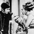1969. On the set of 'Night Gallery' with director Steven Spielberg.