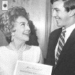 3/18/70. Receiving a 'Ten Outstanding Women of Business' award from the Anchor mutual funds group.