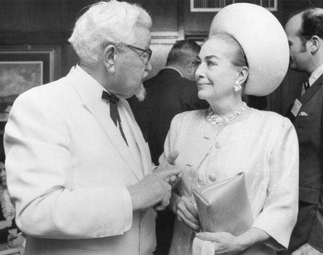 1967. American Cancer Society benefit with Colonel Sanders.