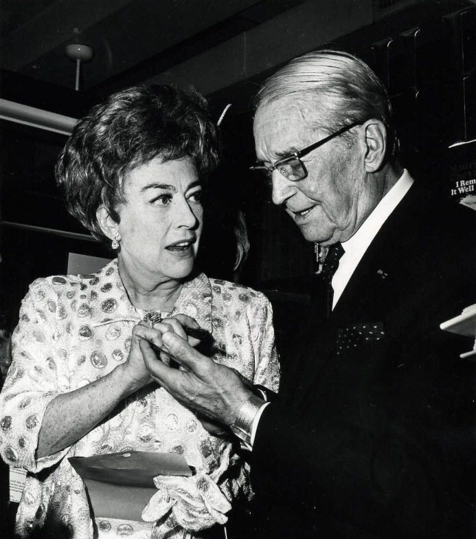 October 6, 1970. With Maurice Chevalier at his book signing.
