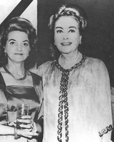 Circa 1970, with friend and socialite Frances Spingold.