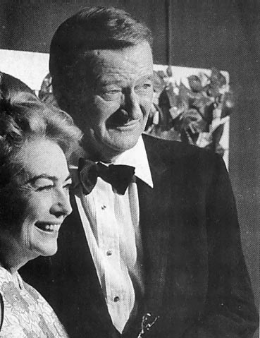 1970 Golden Globes, with John Wayne.