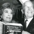 October 6, 1970. With Maurice Chevalier at his book signing. (Thanks to James Bruce.)