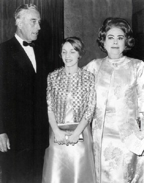 Summer of 1970. Benefit for Brandeis University. With Lord Mountbatten and freelance publicist Amanda Stevenson.