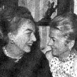 With Joan Fontaine at Tallulah book party, November 1972.