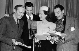 From left: Jack Benny, George Murphy, Joan, Reginald Gardiner.