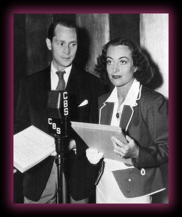 With husband Franchot Tone, October 27, 1936, doing 'Elizabeth the Queen' for CBS radio.