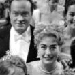 September 1961. With Bob Hope and contestants at the Miss America pageant.