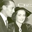 October 14, 1935. With new husband Franchot Tone, arriving for the CBS radio performance of 'Within the Law.'