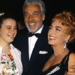 April 9, 1962. With daughter Cindy and Cesar Romero at the Oscars.