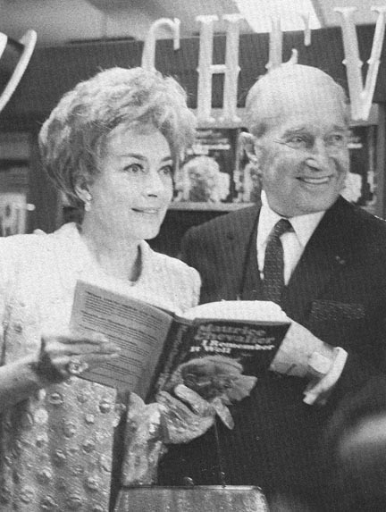 October 6, 1970, with Maurice Chevalier to promote his new book, 'I Remember It Well.'