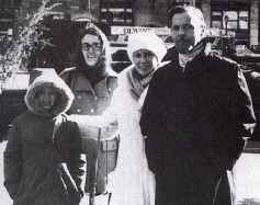 From left: Chris's daughter and wife Gale, Christina, Chris. Site/year unknown.